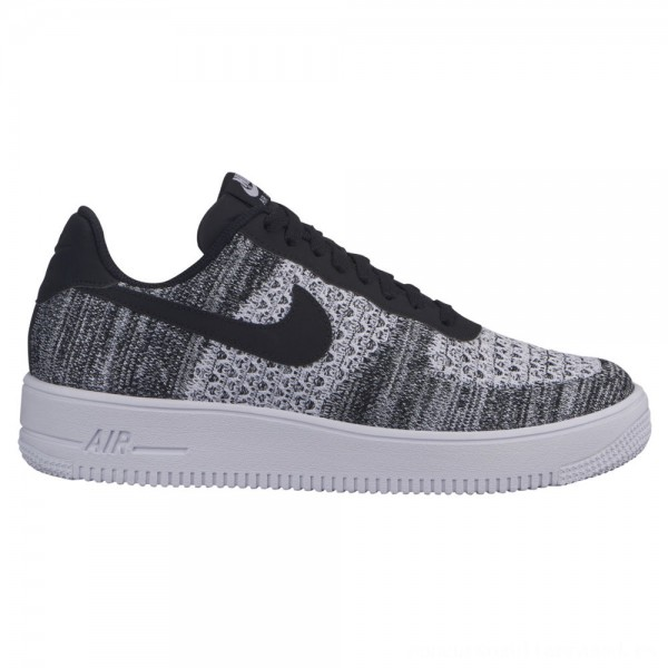 Zapatillas casual de hombre Air Force 1 Flyknit Low Nike Gris / Negro
